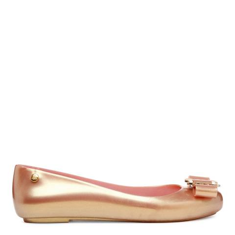 Vivienne Westwood for Melissa Rose Gold Buckle Space Love Flats