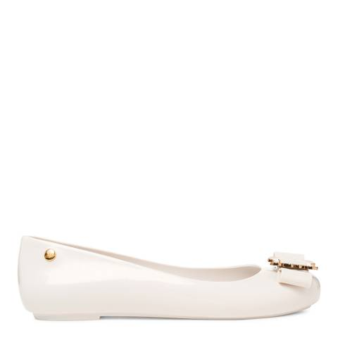 Vivienne Westwood for Melissa White Buckle Space Love Flats