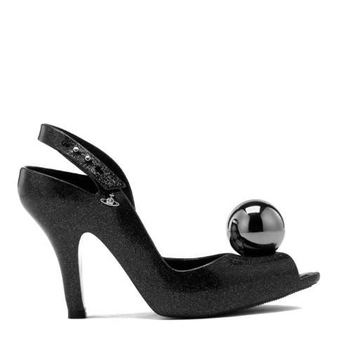 Vivienne Westwood for Melissa VW LADY DRAGON 18 black glitter globe