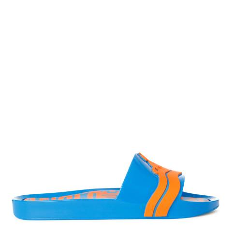 Vivienne Westwood for Melissa Blue Contrast Wave Beach Slide