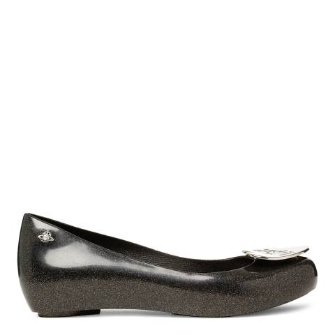 Vivienne Westwood for Melissa Black Glitter Love Ultragirl Flats