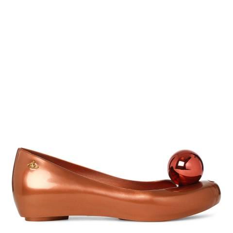 Vivienne Westwood for Melissa Bronze Globe Ultragirl Peep Toe Flats