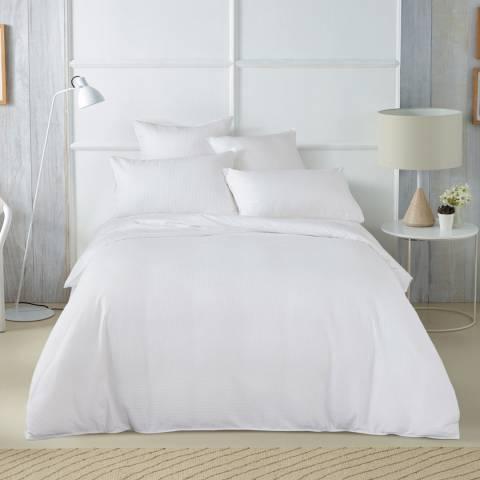 Sheridan Abington Tailored Single Duvet Cover Set, White