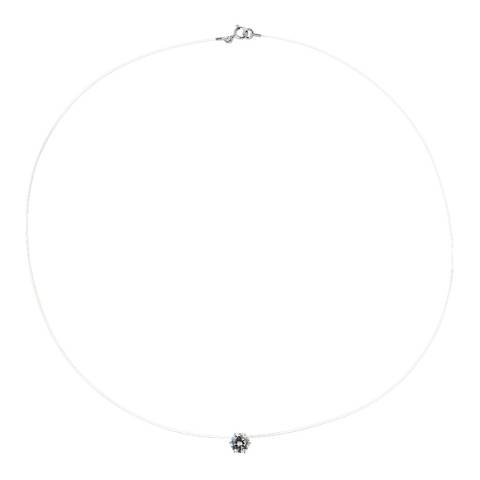 Wish List Silver Solitaire Zirconium Necklace