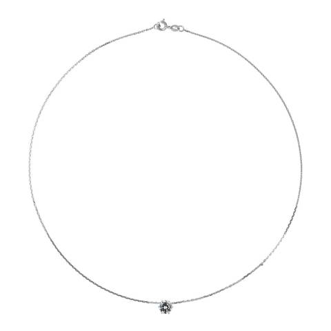 Wish List Silver Zirconium Chain Necklace