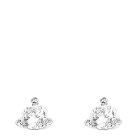 Wish List Silver/White Zirconium Creole Earrings