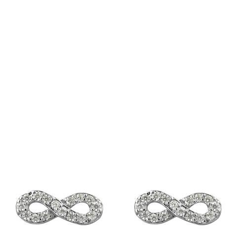 Wish List Silver Zirconium Infinity Earrings