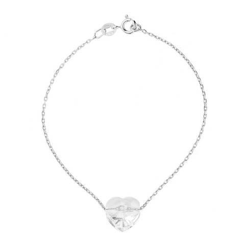 Wish List Silver Crystal Heart Bracelet