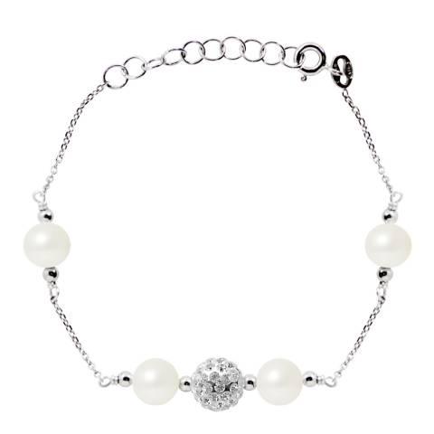 Wish List Silver Freshwater Pearl Bracelet
