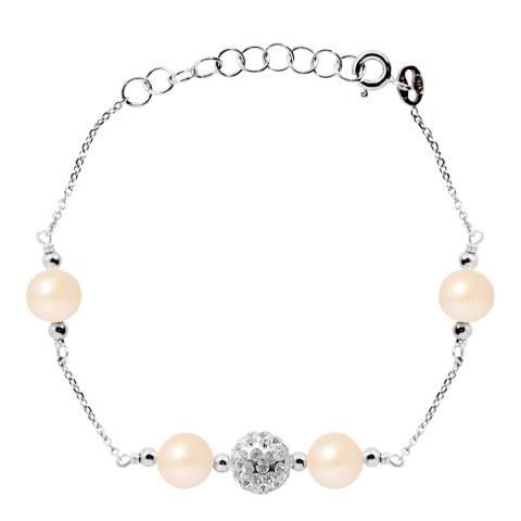 Wish List Silver/Pink Freshwater Pearl Bracelet