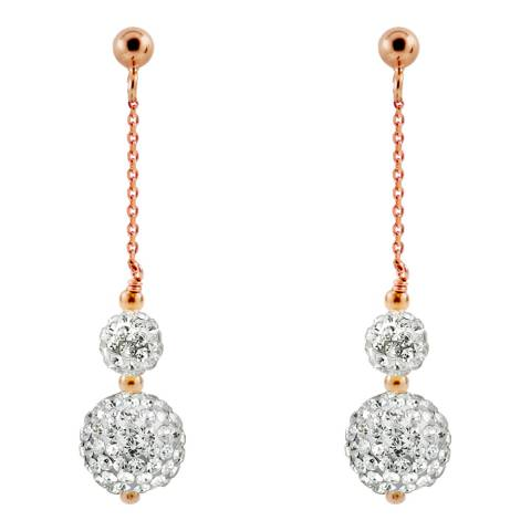 Wish List Rose Gold/White Crystal Earrings