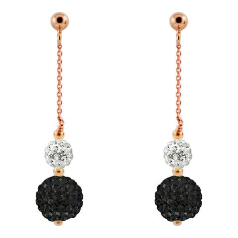 Wish List Rose Gold/Black/White Crystal Earrings