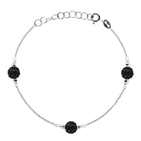 Wish List Silver/Black Crystal Trilogy Bracelet