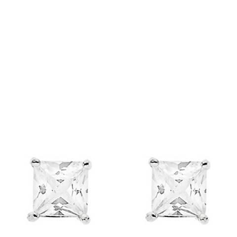 Deep Love Silver Zirconium Earrings