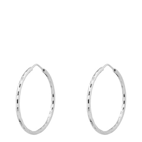Wish List Silver/White Zirconium Earrings