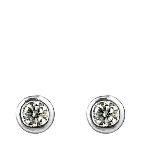 Wish List Silver Creole Stud Earrings