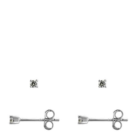 Wish List Silver Zirconia Stud Earrings