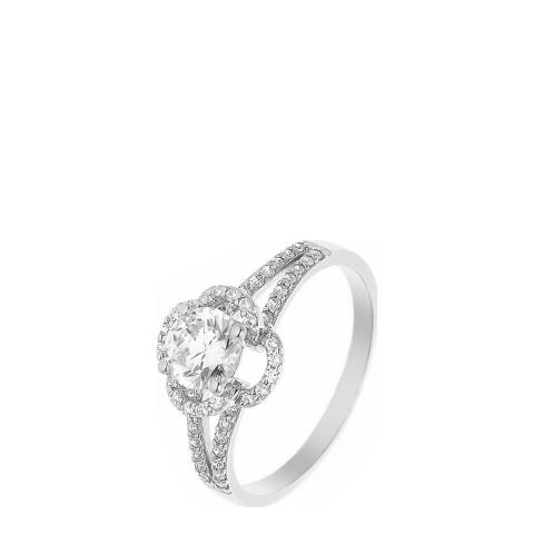 Wish List Silver/White Zirconia Solitaire Ring