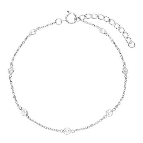 Wish List Silver Zirconium Chain Bracelet