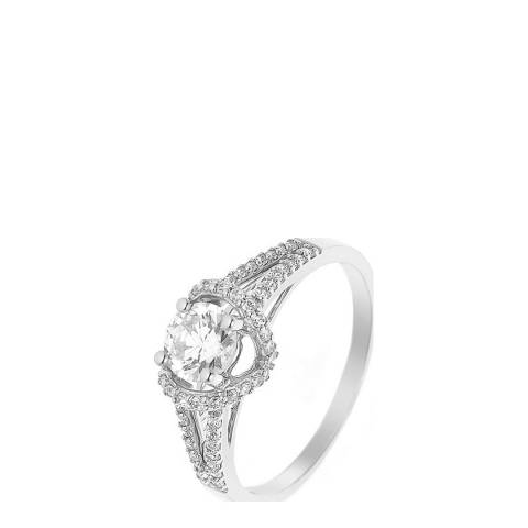 Deep Love Silver/White Prestige Solitaire Ring