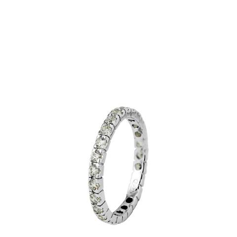 Wish List Silver Zirconium Complete Turn Wedding Ring