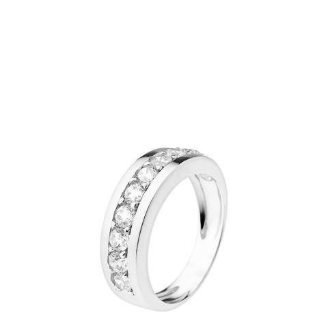 Wish List Silver Complete Turn Rail Wedding Ring