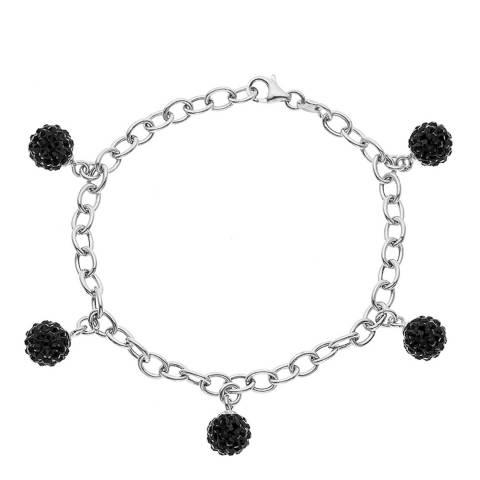 Wish List Silver/Black Crystal Bracelet