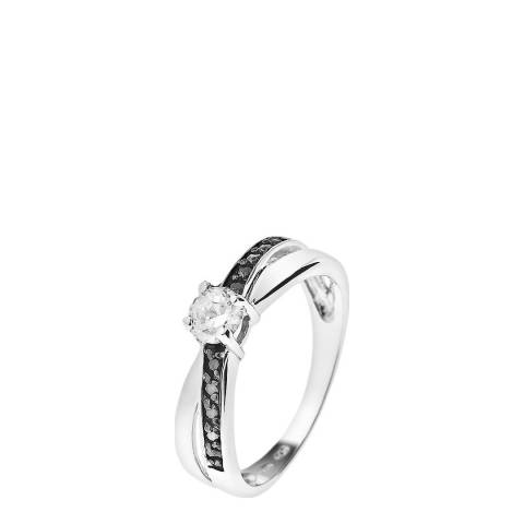 Wish List Silver/Black/White Solitaire Ring