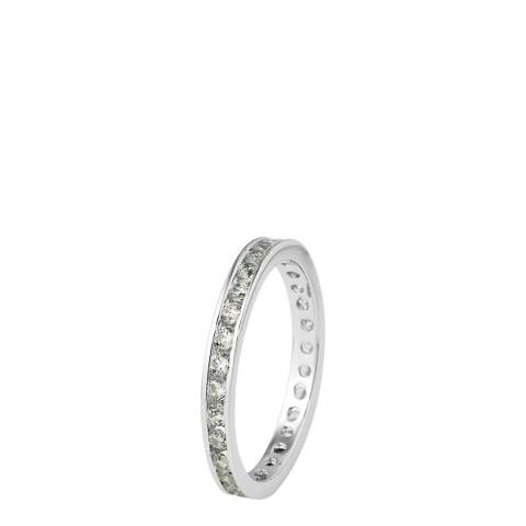 Wish List Silver Complete Turn Diamond Ring