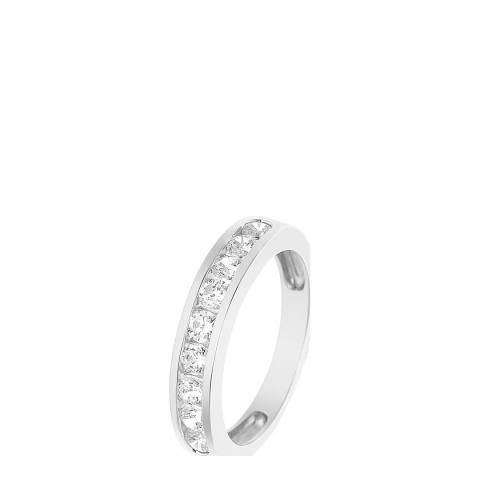 Wish List Silver Diamond Half Wedding Ring