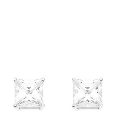 Wish List Silver Diamond Stud Earrings