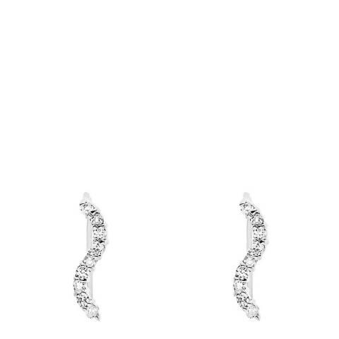 Wish List Silver Crystal Earrings