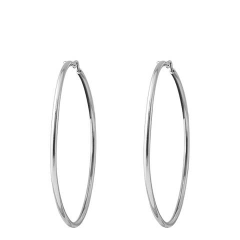 Wish List Silver Hoop Creole Earrings