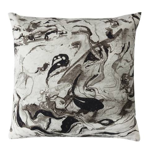 Gallery Monochrome Marble Print Cushion 45x45cm