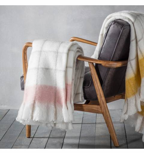 Gallery Blush Agnes Mohair-Feel Throw 130x170cm