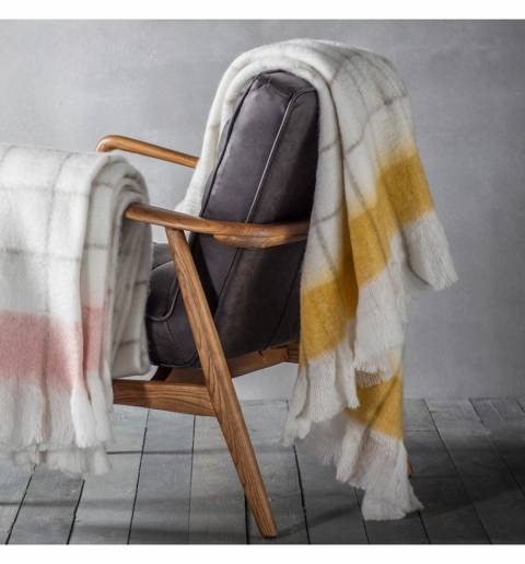 Gallery Ochre Agnes Mohair-Feel Throw 130x170cm