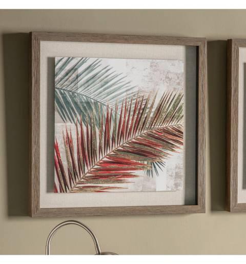 Gallery Red Palm Leaves Framed Art 54.5x54.5cm