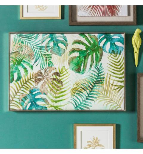 Gallery Green Tropical Palms Framed Art 92.5x62.5cm
