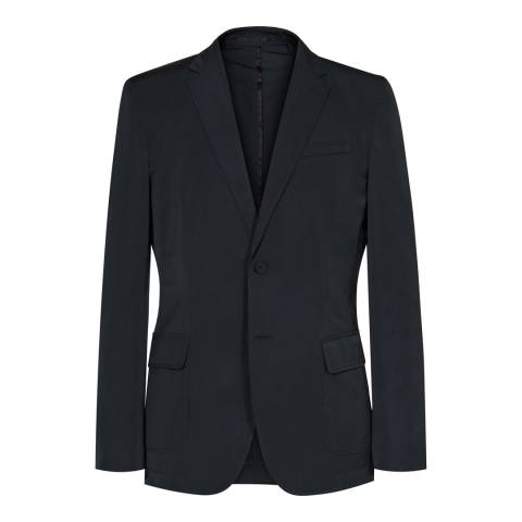 Reiss Navy Tailored Relaxed Suit Jacket
