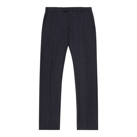 Reiss Navy Wool Brill Trousers