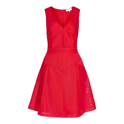 Reiss Red Topaz Textured Dress