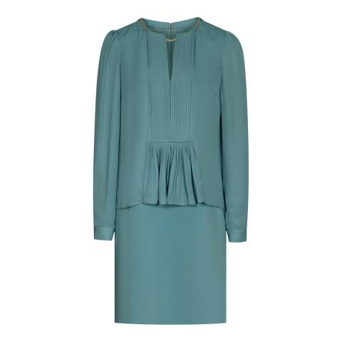 Reiss Emerald Sea Daze Chain Neck Dress