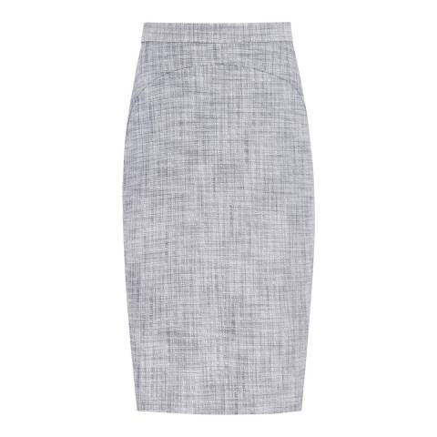 Reiss Grey/Blue Remi Tailored Skirt