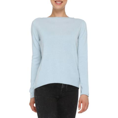Love Cashmere Light Blue Cashmere Blend Long sleeve Jumper