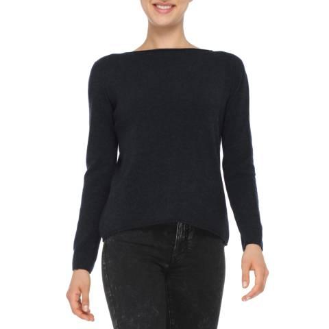 Love Cashmere Black Cashmere Blend Long Sleeve Jumper