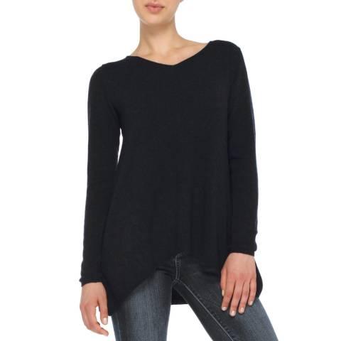 Love Cashmere Black V Neck Oversized Cashmere Blend Jumper