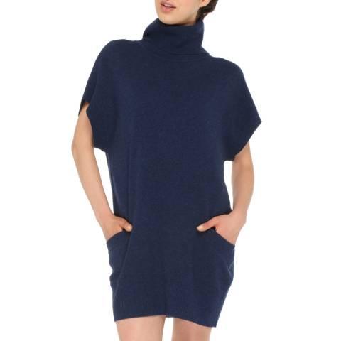 Love Cashmere Blue Cashmere Blend Turtleneck Dress