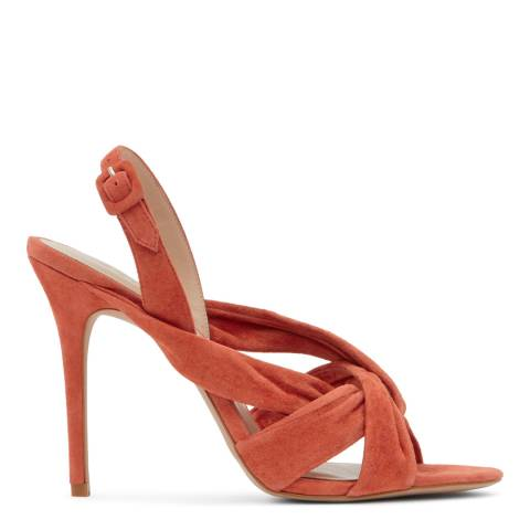 Reiss Navy Rhiannon Suede Knot Sandals