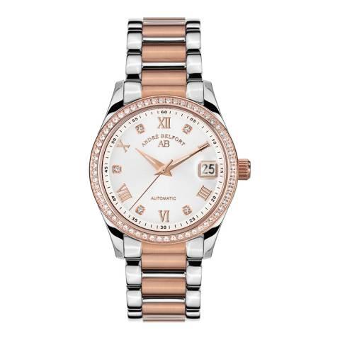 Andre Belfort Women's Silver / Rose Gold Demeter Watch