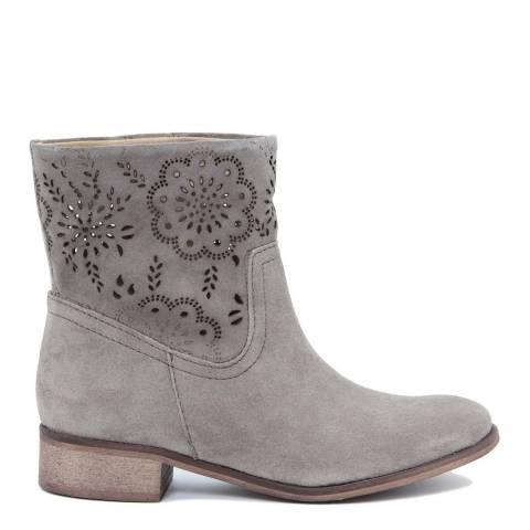 Giorgio Picino Stone Floral Cut Out Cuff Ankle Boots